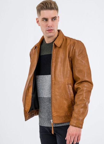Men Jackets Indie Brown Leather Superdry