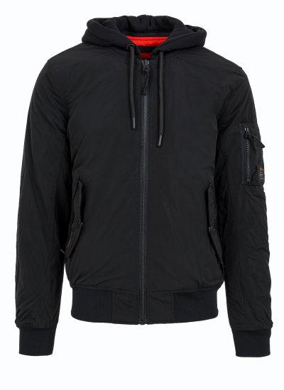 Men Jackets Military.Jacket Black Polyester Superdry