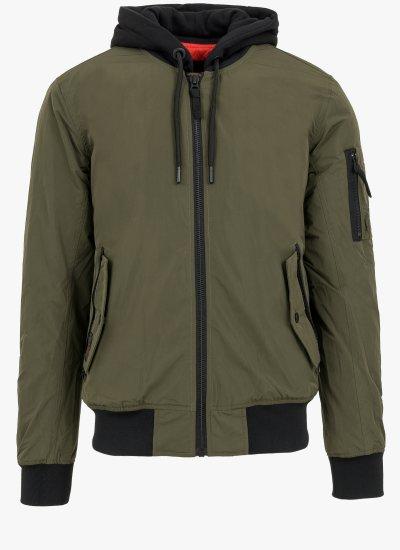 Men Jackets Military.Jacket Olive Polyester Superdry