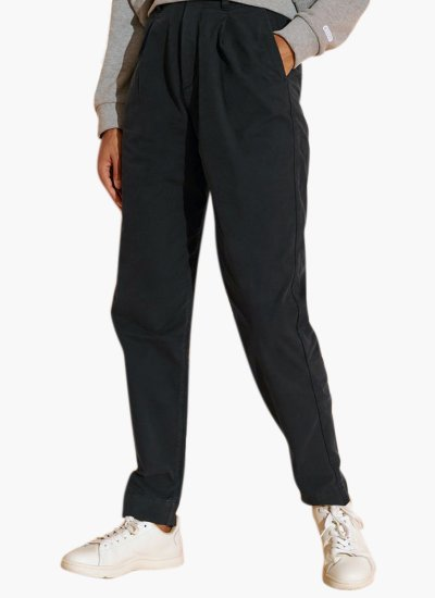 Pleated.Chino Black Cotton Superdry