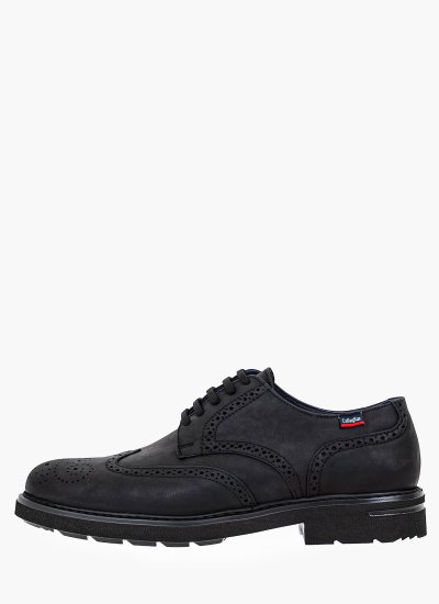 Men Shoes 16403 Black Oily Leather Callaghan
