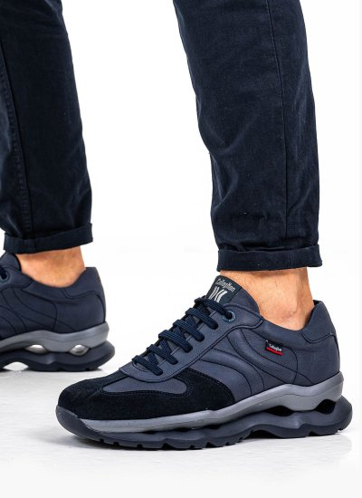 Men Casual Shoes 17811 Blue Leather Callaghan