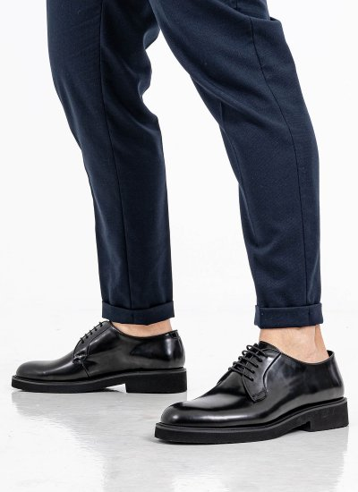 Men Shoes 5650 Black Leather Philippe Lang