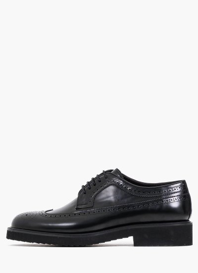 Men Shoes 5649 Black Leather Philippe Lang