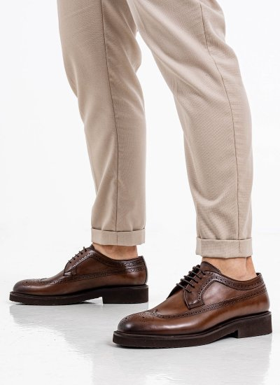 Men Shoes 5649 Brown Leather Philippe Lang