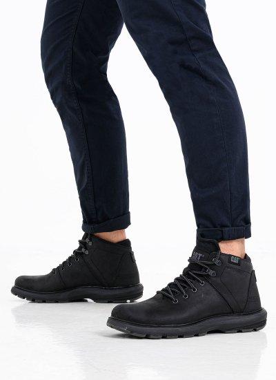 Men Boots P722922 Black Oily Leather Caterpillar