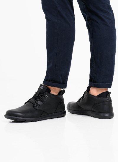 Men Boots P724735 Black Leather Caterpillar