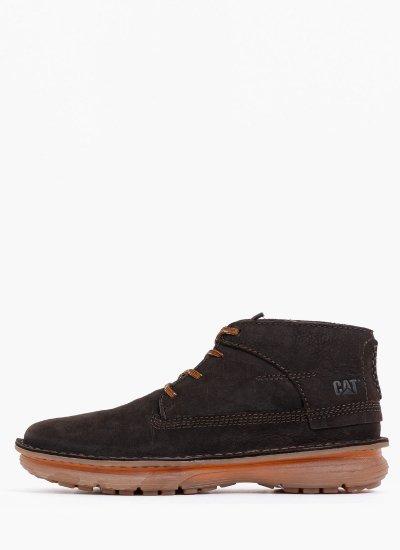 Men Boots P724828 DarkBrown Nubuck Leather Caterpillar