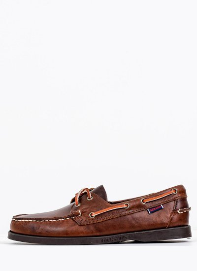 Men Sailing shoes 70000G0 Brown Leather Sebago