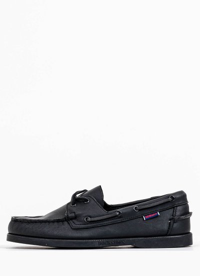 Men Sailing shoes 7000H00 Black Leather Sebago