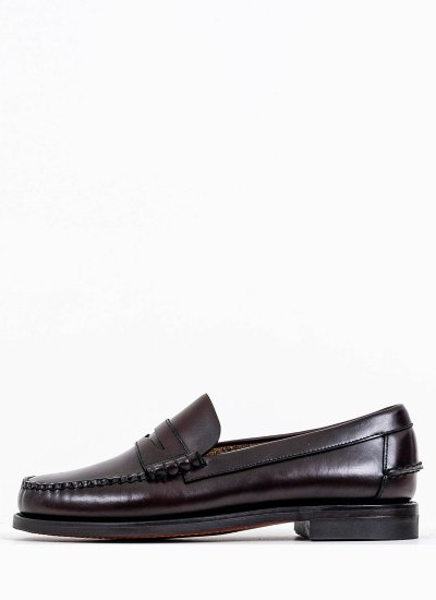 Men Moccasins Classic.Dan Bordo Leather Sebago