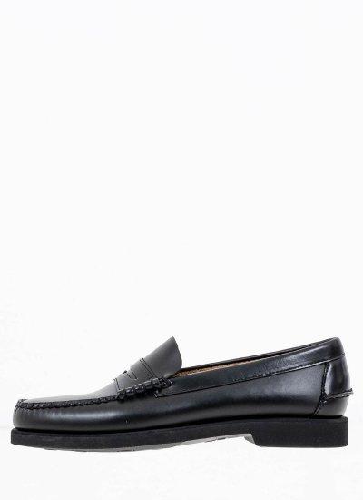 Men Moccasins Dan.Polaris Black Leather Sebago