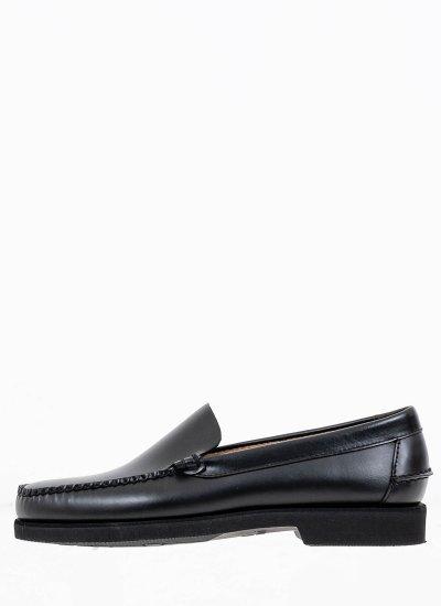 Men Moccasins Frank.Polaris Black Leather Sebago