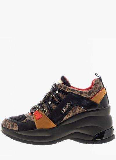 Women Casual Shoes Karlie.Revol Black Leather LIU JO