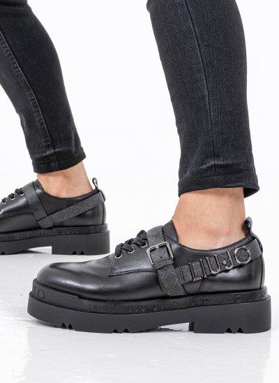 Women Moccasins Love.5 Black Leather LIU JO