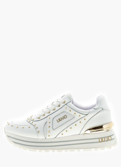 Women Casual Shoes Wonder.13.Snk White Leather LIU JO