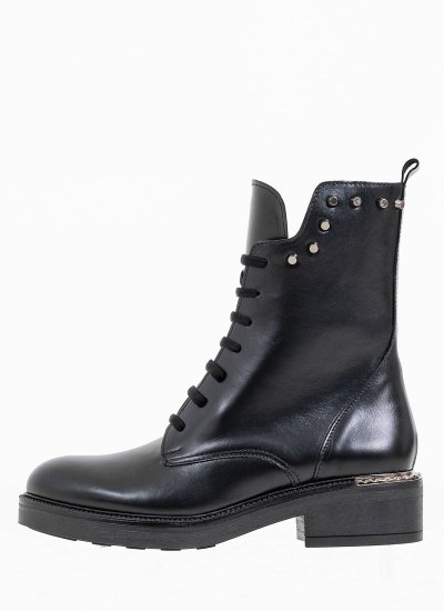Women Boots 15.230 Black Leather MAKIS KOTRIS