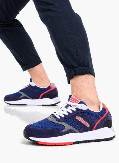Men Casual Shoes Nyc84 Blue Suede Leather Ellesse
