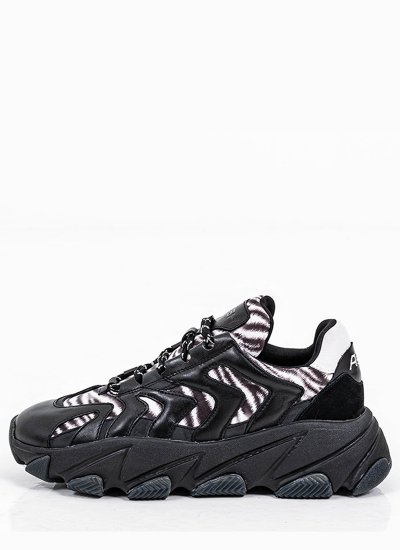 Women Casual Shoes Extreme.Combo Black Eco-Leather Ash
