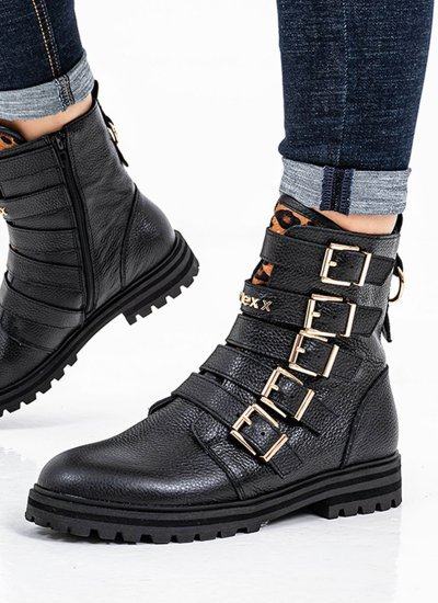 Women Boots Dido.W Black Leather Mexx