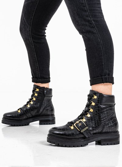 Women Boots Fall Black Leather Mexx