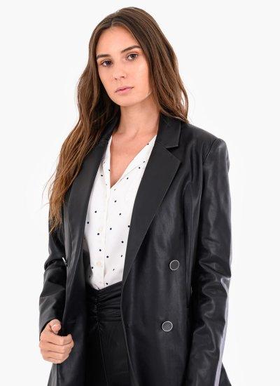 Women Coats - Jackets Annalisa Black Eco-Leather Guess