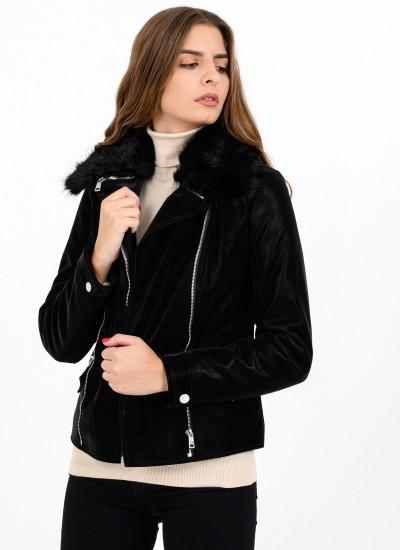 Women Coats - Jackets Cantara Black Eco-Leather Guess