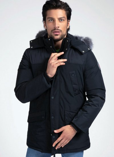 Men Jackets Cool.Winter Black Polyester Guess