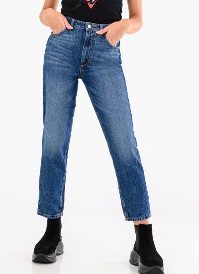 Mom.Jean Blue Cotton Guess