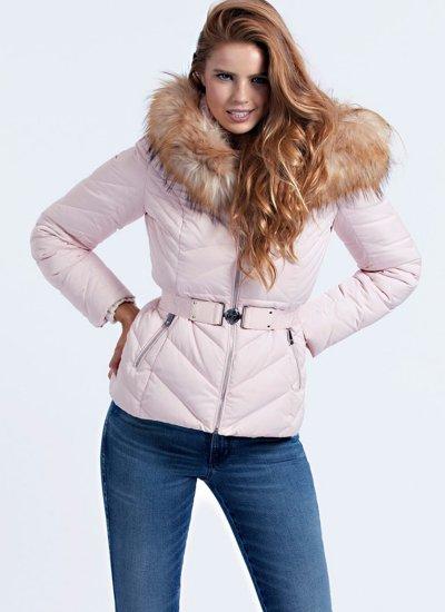 Women Coats - Jackets Sara Pink Polyester Guess