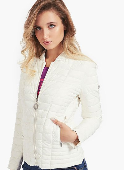 Women Coats - Jackets Vera.Jacket White Polyester Guess