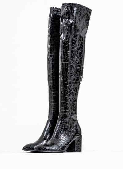 Women Boots Jacey Black Eco-Leather Steve Madden
