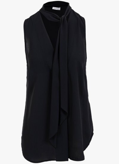 Women T-Shirts - Tops Bedevil Black Polyester Silvian Heach