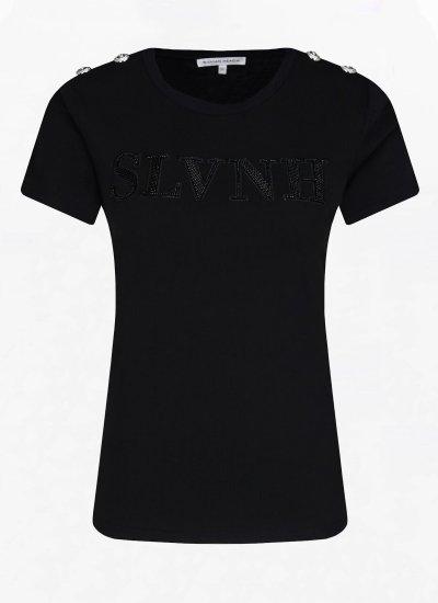 Women T-Shirts - Tops Brakfast Black Cotton Silvian Heach
