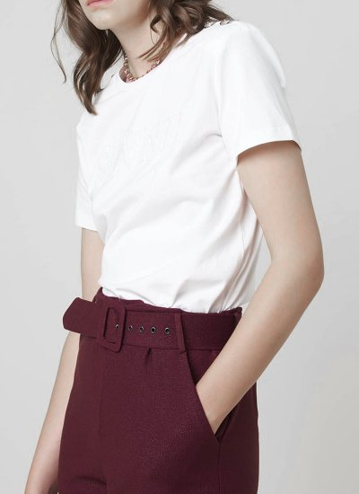 Women T-Shirts - Tops Brakfast White Cotton Silvian Heach