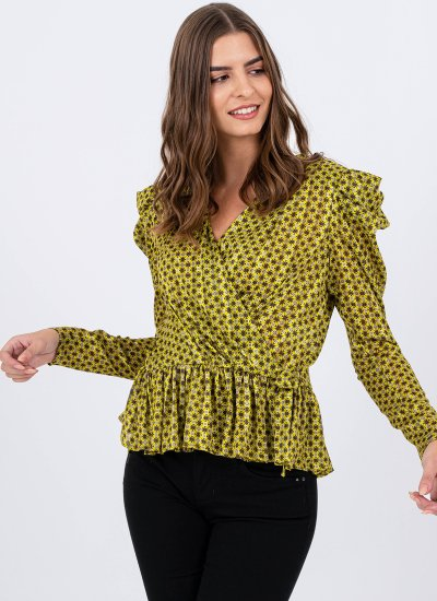 Women T-Shirts - Tops Exhibitionist Yellow Polyester Silvian Heach