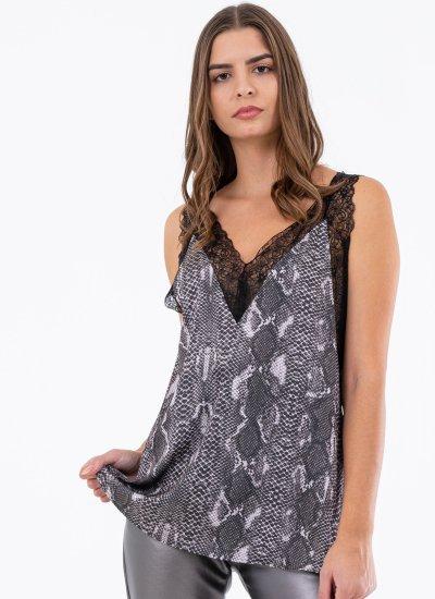 Women T-Shirts - Tops Getonup Black Polyester Silvian Heach