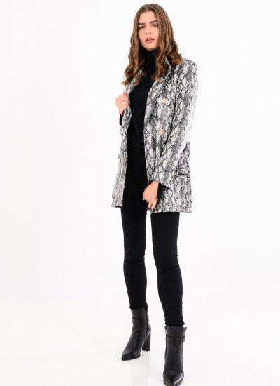Women Coats - Jackets Hotep Grey Eco-Leather Silvian Heach