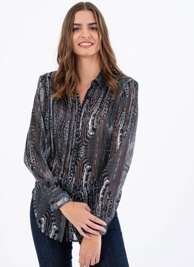 Women Shirts Marshal Black Polyester Silvian Heach