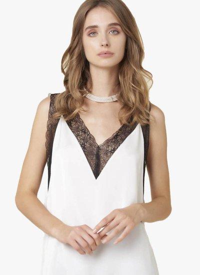 Women T-Shirts - Tops Tryin White Polyester Silvian Heach