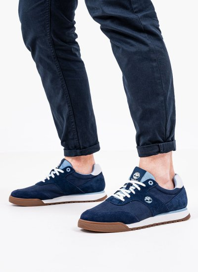 Men Casual Shoes A2298 Blue Nubuck Leather Timberland