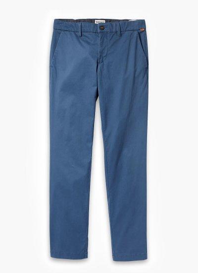 Men Pants A2BYY Blue Cotton Timberland