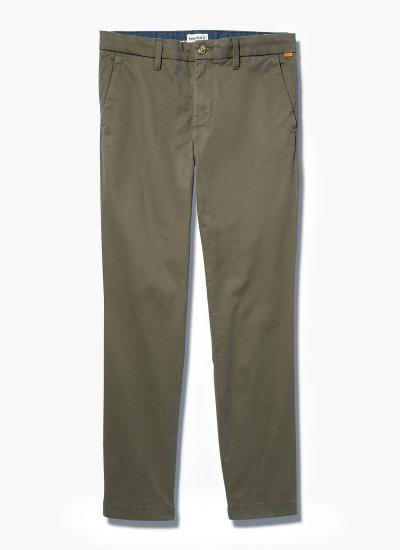 Men Pants A2BYY Olive Cotton Timberland