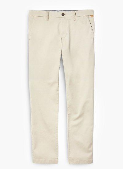 Men Pants A2BYY Ecru Cotton Timberland
