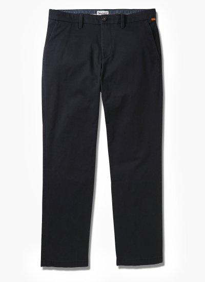 Men Pants A2BZA Black Cotton Timberland