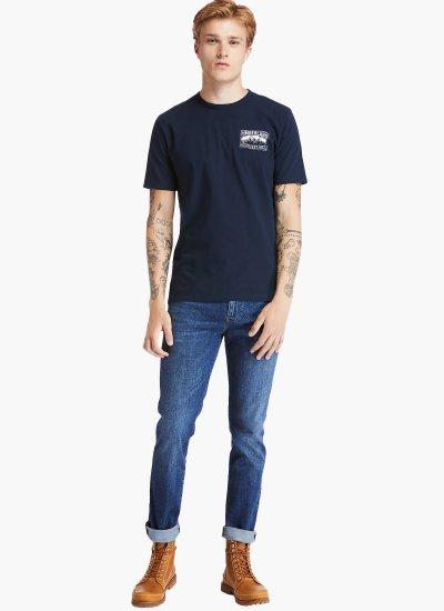 Men Pants A2C92 LightBlue Cotton Timberland