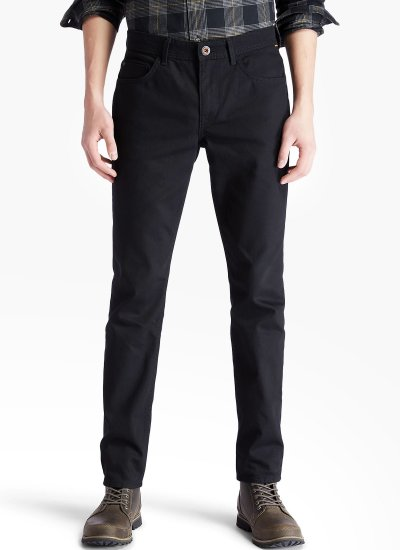 Men Pants A2C9D Black Cotton Timberland
