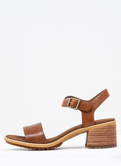 Women Sandals Low A2FS1 Brown Leather Timberland