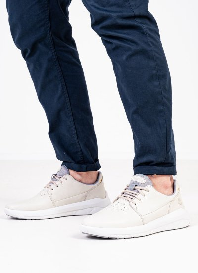 Men Casual Shoes A2MPT Beige Nubuck Leather Timberland