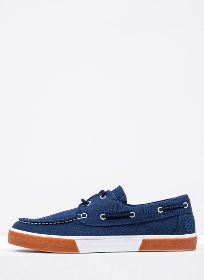 Men Sailing shoes A42PS DarkBlue Fabric Timberland